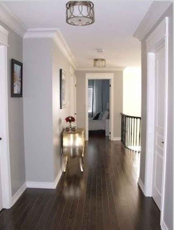 Grey Walls Dark Floor For The Home Pinterest