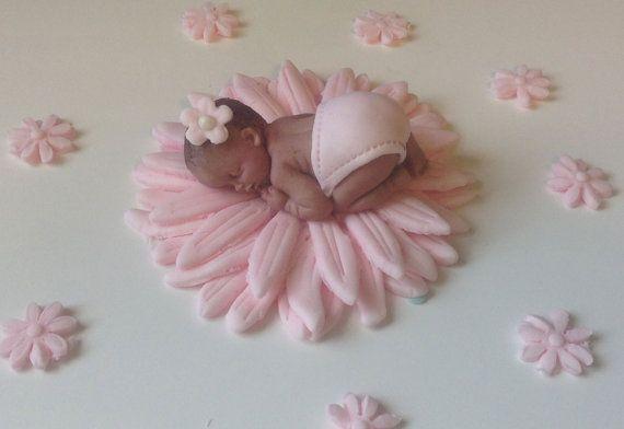 baby shower cake topper fondant pink daisy baby girl flower on etsy