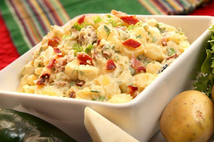 Yukon Potato Salad with Poblano Cream | Catering | Pinterest
