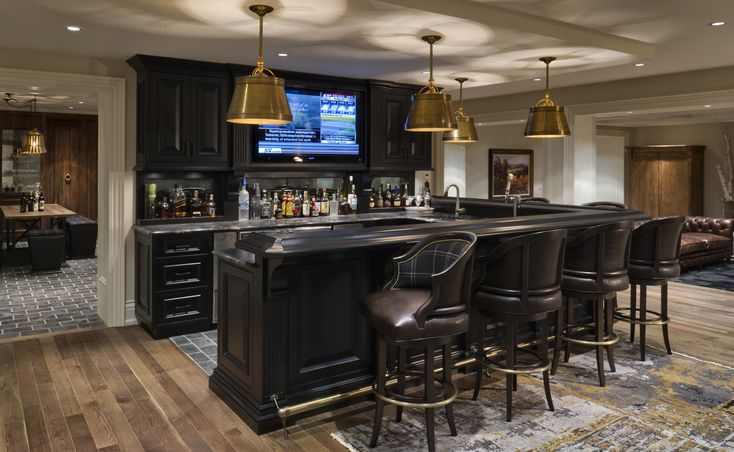Modern Basement Bar Cottage Ideas Pinterest