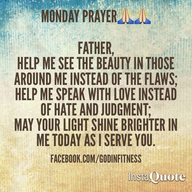 monday prayer quotes quotesgram