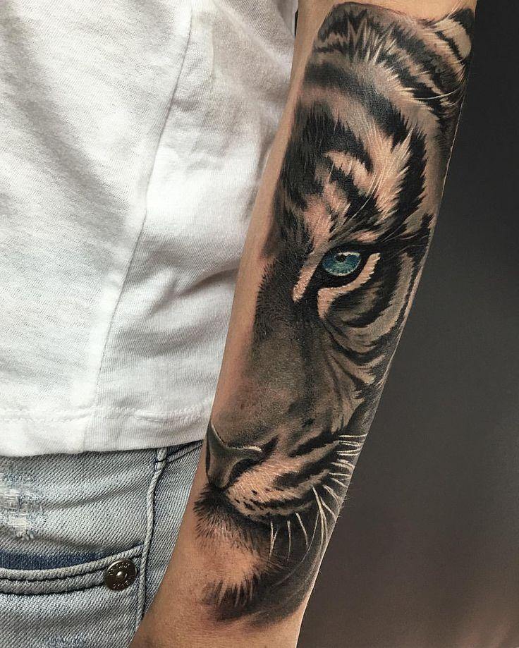 Tiger eye tattoo