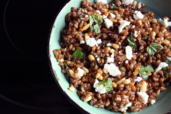 wheatberry salad | Good Eats | Pinterest