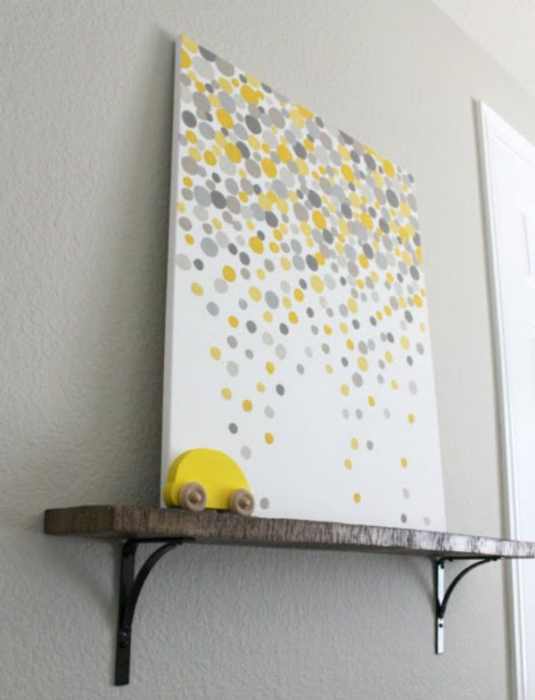 Diy dot wall art ideas to paint pinterest for Cheap wall art ideas