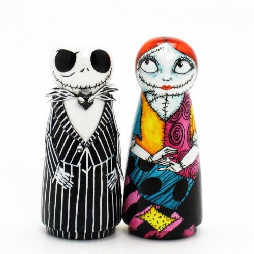 Jack amp sally the nightmare before christmas wedding cake topper 0013