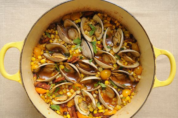 Corn, Bacon, and Clam Stew | Meat/Poultry/Seafood Entrees | Pinterest