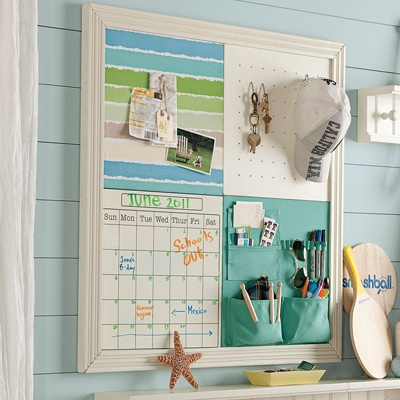 another multiple pinboard; this one comes with pockets. like the idea!