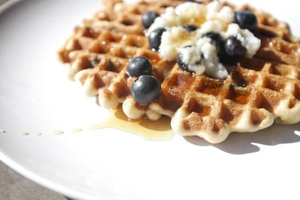 Gluten Free Blueberry Waffles // shutterbean (raw cashews)
