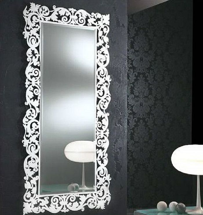 Modern large decorative bathroom mirrors decorating for Ornamental mirrors