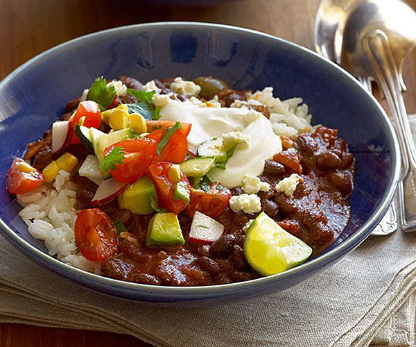Smoky Chipotle Black Bean Chili with Fresh Salsa