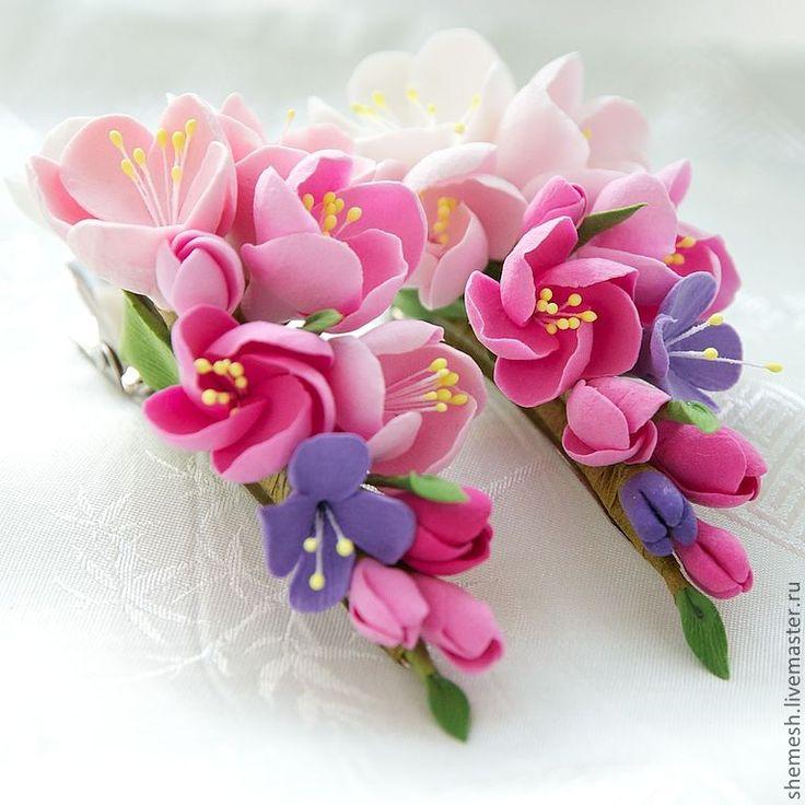 Цветы из фоамирана для заколки своими руками 36