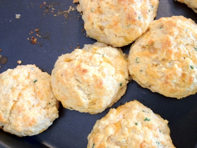 Cheddar and Chive Drop Biscuits | Recipes - Dinner | Pinterest