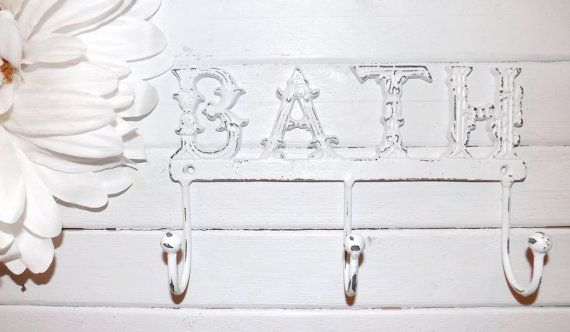 Towel Rack / Wall Hook /French Country /Bathroom Hook / Shabby Chic « My Website