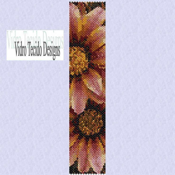 Flowers Peyote Bracelet Pattern. $2,00, via Etsy.