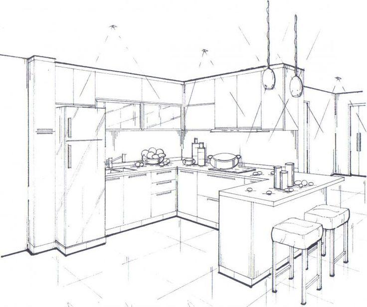 Дизайн гостиной с белой кухней
