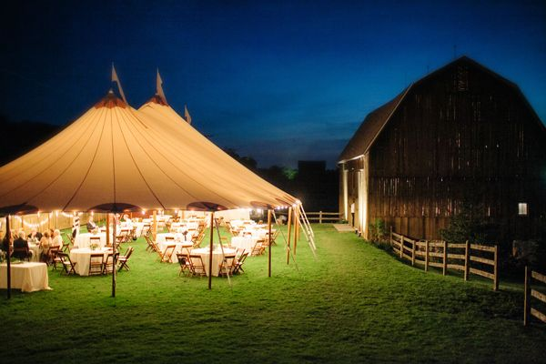 Tents That Look Like Barns : Barn wedding with the most perfect tent tie knot