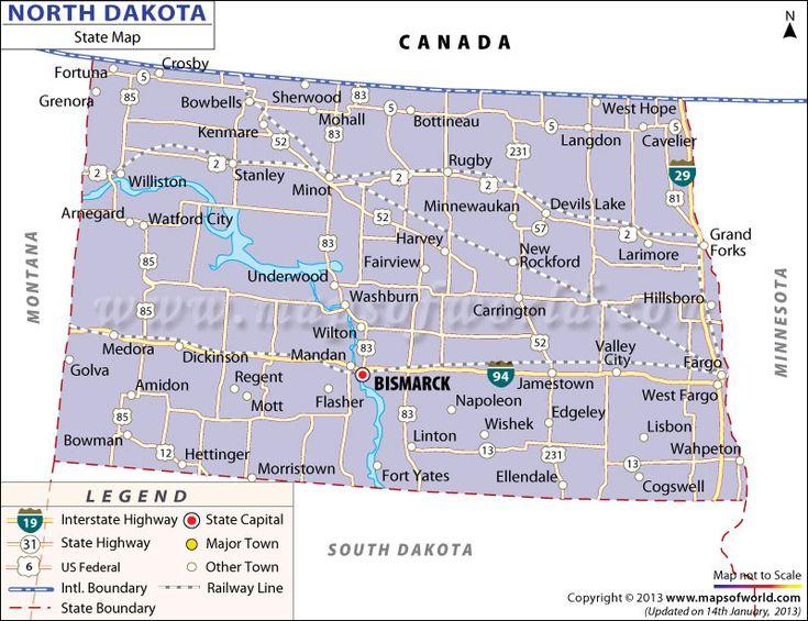 21 excellent United States Map North Dakota swimnovacom