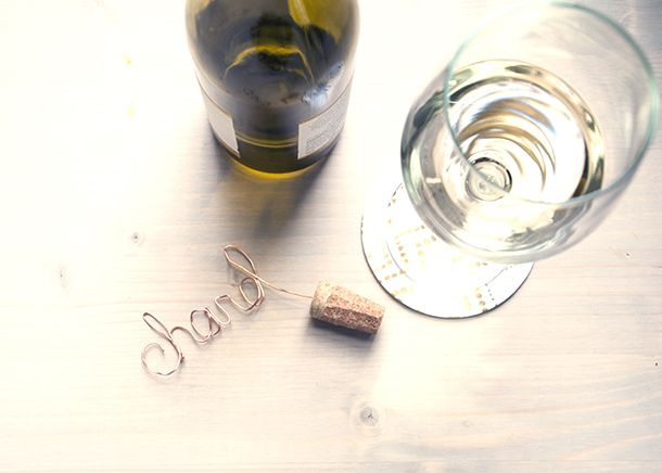 DIY Copper Script Wine Toppers