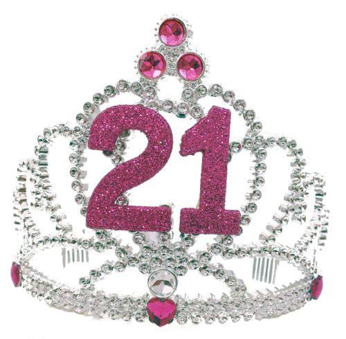 """ HAPPY 21st BIRTHDAY "" TIARA HEADBAND CROWN"