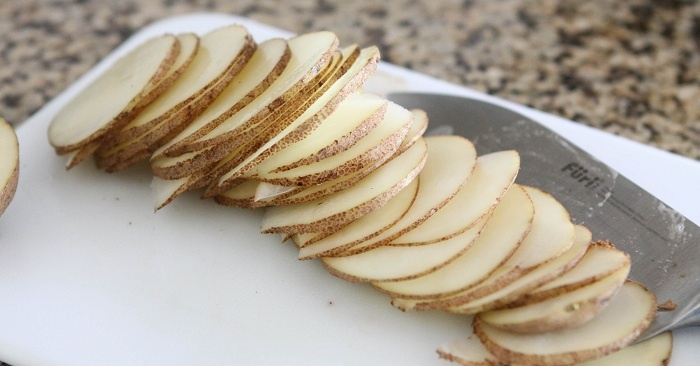 Bowl of Homemade Parmesan Potato Chips….for one :) | Picky Palate