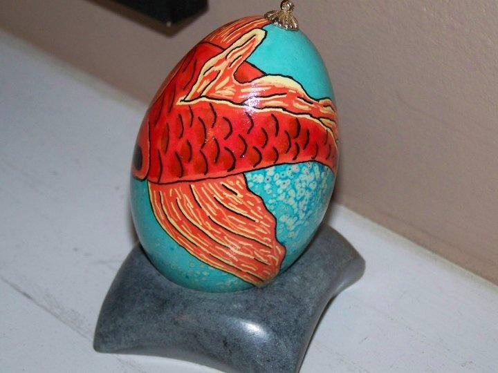Koi fish ukrainian egg art pinterest for Koi carp eggs