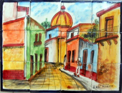 mexican wall tile mural all thingss art relatedd don t judge a mexican restaurant by its murals bon