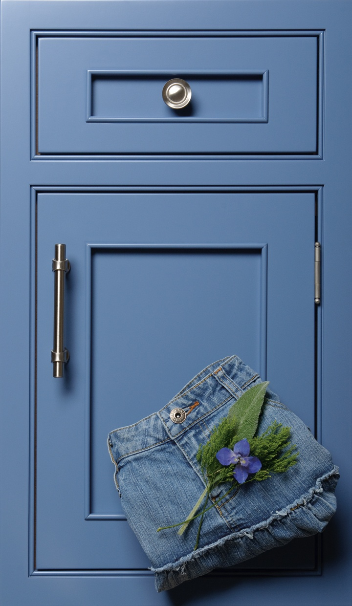 sample of worn blue denim jeans #Blue #Custom #Color #Cabinets #Design