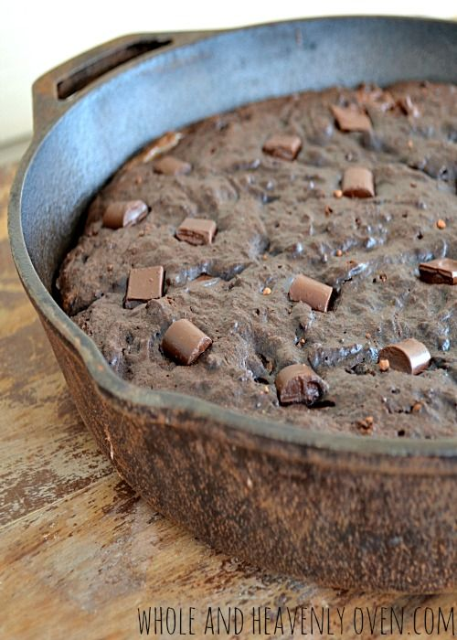 Fudgy Double Chocolate Skillet Brownies--- Super-moist and fudgy ...