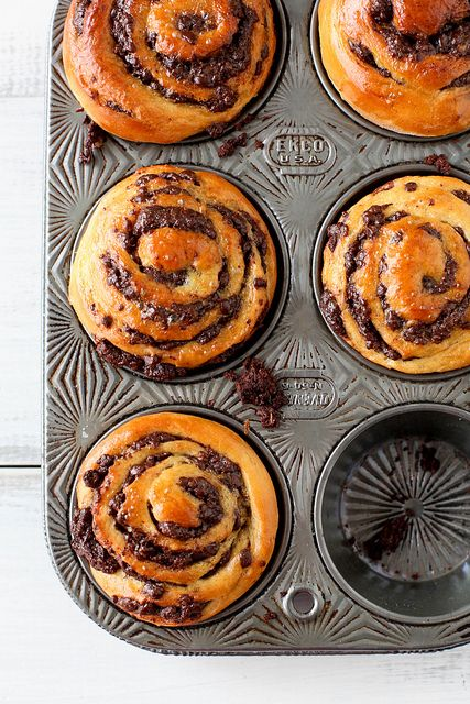 Chocolate swirl brioche buns | Must Try Recipes | Pinterest