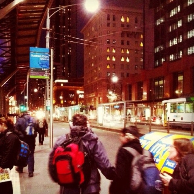 At the end of each hard working day, Melbournians take public transport home...