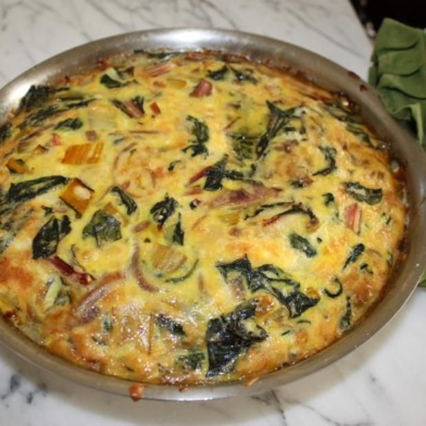 Light Swiss Chard Frittata Recipe — Dishmaps