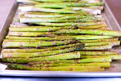 Oven roasted asparagus. Update: Best recipe I've used... but added 3 ...