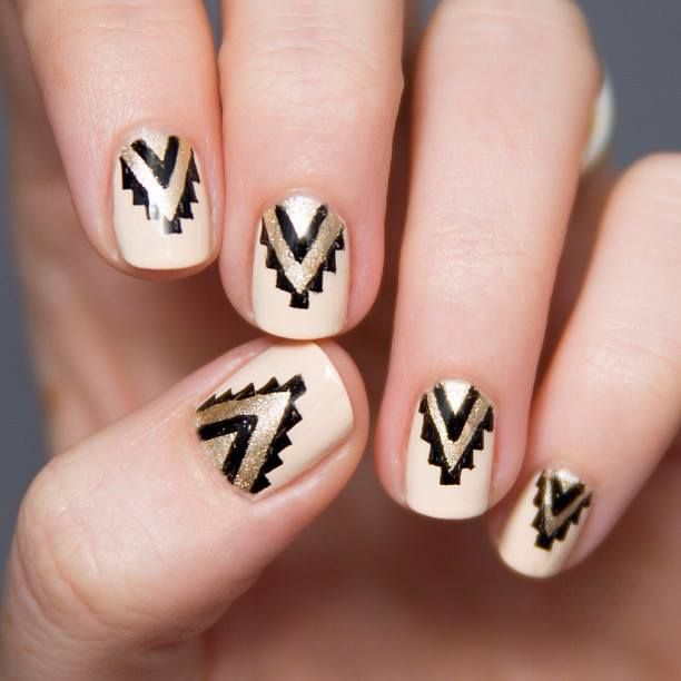 geometric nails #aztec #navajo #tribal