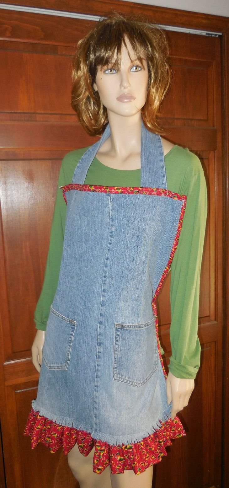 Upcycle an old pair of denim jeans into an apron!