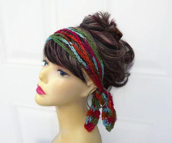 Crochet Hair Jewelry : Womens Crochet Accessories, Hair Accessories, Headband For Women Gift ...
