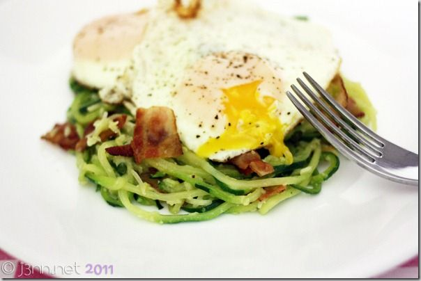 Oodles of Zoodles (Spiral Zucchini Carbonara) | the 3volution of j3nn ...