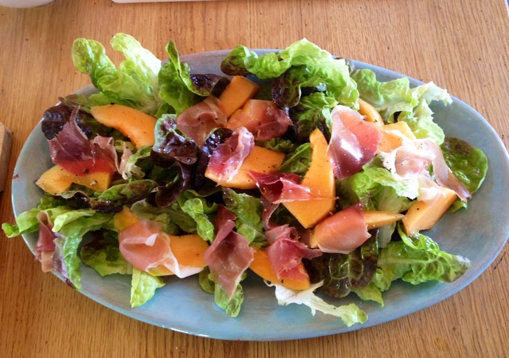 Prosciutto and melon salad made by mum | The French Life | Pinterest