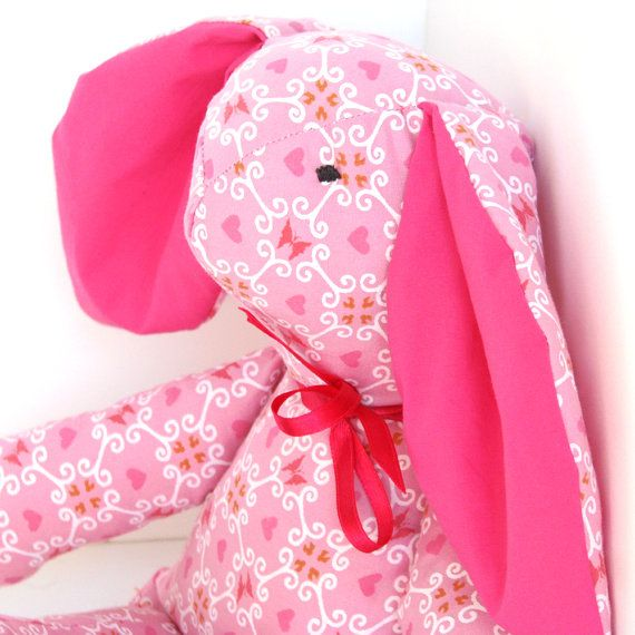 Emma The Rabbit  Soft Toy for Baby and by MyLovelySunshine on Etsy, $42.00