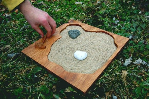 Miniature Zen Rock Garden Situation