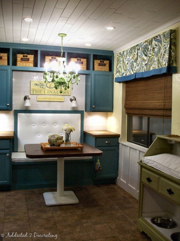 Teal Cabinets
