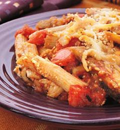 Recipes from The Nest - Eggplant Pasta Bake...use FF Mozzarella for a ...