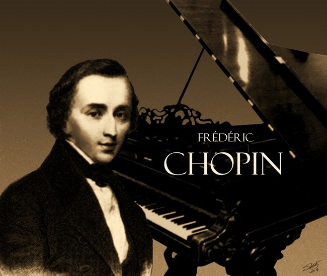 Portrait of chopin with piano sweet music pinterest