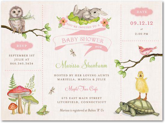 wonderful woodland watermelon baby shower invitations in watermelo