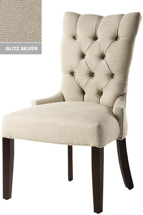 Tufted back dining chair park avila tufted back dining - Tufted dining room chairs ...