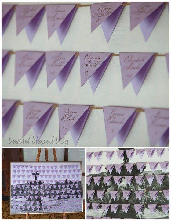 Diy wedding seating chart fold diamond shaped paper in half to make