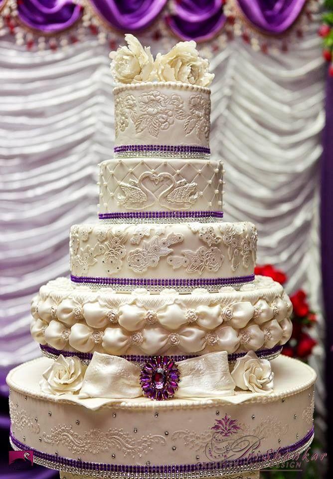 White Amethist Bling Bling wedding cake