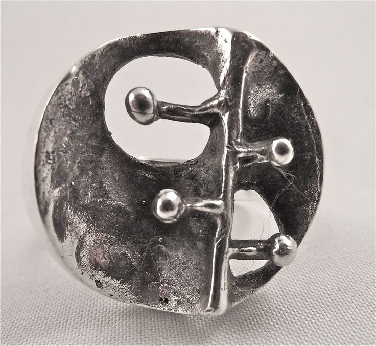 Alpo Tammi for Tammen Koru, Vintage silver nature-themed ring, 1971. | Koruvuokraamo