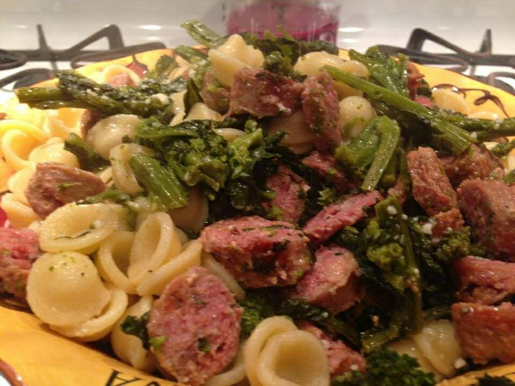 Orecchiette with sausage and broccoli rabe