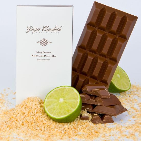 Kaffir Lime Dessert Bar 40% Cocoa Content A delicious milk chocolate ...