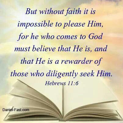 Hebrews 11:6   Hebrews   Pinterest